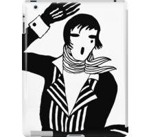 The female Scream, black and white Vector Art iPad Case/Skin