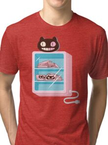 Cookie Cat Freezer Tri-blend T-Shirt