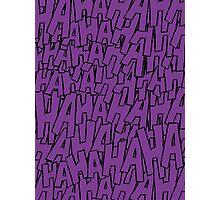Ha Ha Ha - Purple Photographic Print