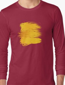 Speckle Gravity Yellow Long Sleeve T-Shirt