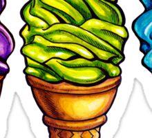 Ice Cream Purple Blue Green Pattern Sticker