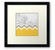 Mustard and Marble Graphic  Framed Print
