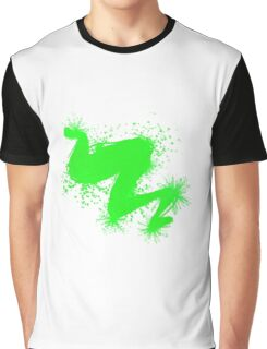 Speckle Gravity Green Graphic T-Shirt