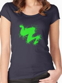Speckle Gravity Green Women's Fitted Scoop T-Shirt