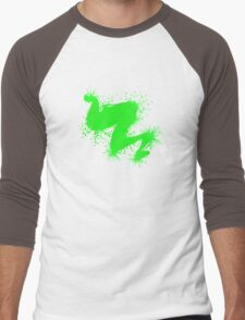 Speckle Gravity Green Men's Baseball ¾ T-Shirt