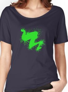 Speckle Gravity Green Women's Relaxed Fit T-Shirt