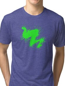Speckle Gravity Green Tri-blend T-Shirt