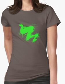 Speckle Gravity Green Womens Fitted T-Shirt