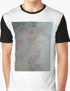 Some dionysian tribe women with a totem pole and seashells Graphic T-Shirt