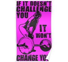 Challenge and Change (Strong Girl) Poster