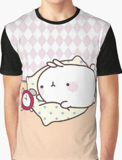 kawaii molang bunny alarm Graphic T-Shirt