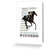 Triple Crown Winners 2015 American Pharoah Greeting Card