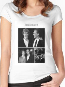 Benedict Cumberbatch and Tom Hiddleston Women's Fitted Scoop T-Shirt