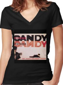Psychocandy Women's Fitted V-Neck T-Shirt