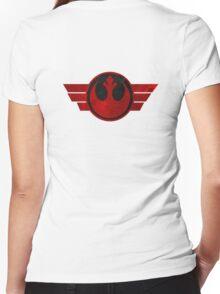 Rebel Alliance flight logo Women's Fitted V-Neck T-Shirt