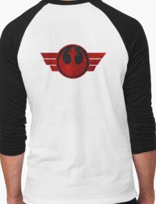 Rebel Alliance flight logo Men's Baseball ¾ T-Shirt