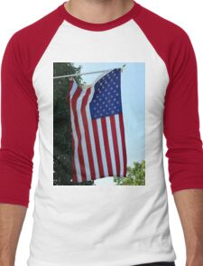 Flag Men's Baseball ¾ T-Shirt