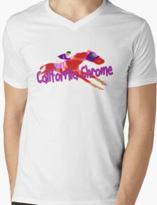 Fun California Chrome Design Mens V-Neck T-Shirt