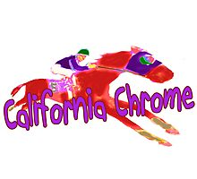 Fun California Chrome Design Photographic Print