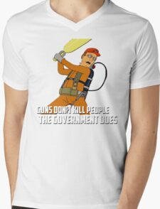 Dale Gribble - Guns Don't Kill People, The Government Does! Mens V-Neck T-Shirt