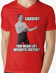 Cardio? You Mean Lift Weights Faster? Mens V-Neck T-Shirt
