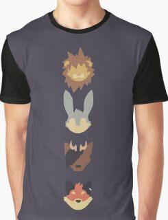 Scratch21 Minimal - Line Layout Graphic T-Shirt