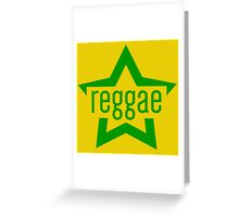 Reggae Star Greeting Card