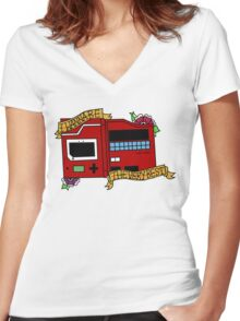 Pokedex  Women's Fitted V-Neck T-Shirt