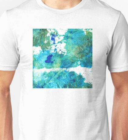 Blue And Green Abstract - Imagine - Sharon Cummings Unisex T-Shirt