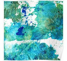 Blue And Green Abstract - Imagine - Sharon Cummings Poster