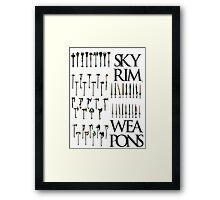 Skyrim Weapons Framed Print
