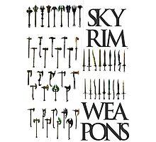 Skyrim Weapons Photographic Print