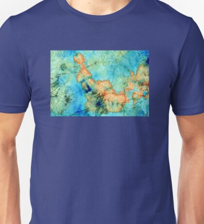 Blue And Orange Abstract - Time Dance - Sharon Cummings Unisex T-Shirt