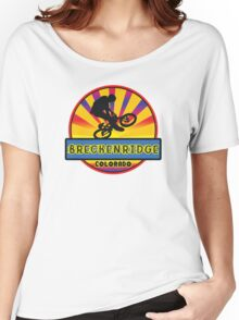 MOUNTAIN BIKE BRECKENRIDGE COLORADO BIKING MOUNTAINS Women's Relaxed Fit T-Shirt