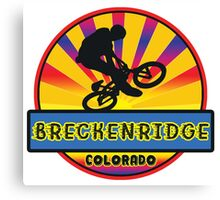 MOUNTAIN BIKE BRECKENRIDGE COLORADO BIKING MOUNTAINS Canvas Print