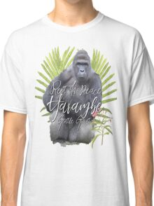 Harambe RIP Silverback Gorilla Gentle Giant Watercolor Tribute Animal Rights Activist Zoo Classic T-Shirt