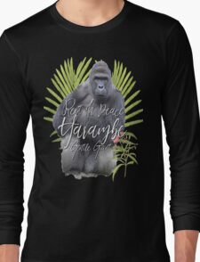 Harambe RIP Silverback Gorilla Gentle Giant Watercolor Tribute Cincinnati Zoo Long Sleeve T-Shirt