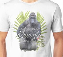 Harambe RIP Silverback Gorilla Gentle Giant Watercolor Tribute Animal Rights Activist Zoo Unisex T-Shirt