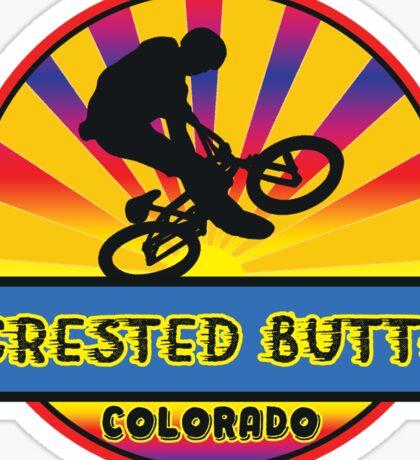 MOUNTAIN BIKE CRESTED BUTTE COLORADO BIKING MOUNTAINS Sticker