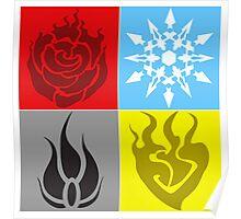 RWBY Symbols Enlarged Poster