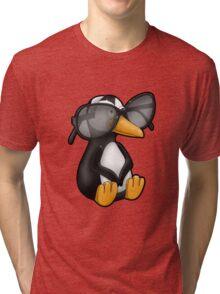 Penguin with Eyeglasses Tri-blend T-Shirt