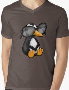 Penguin with Eyeglasses Mens V-Neck T-Shirt