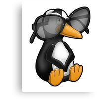 Penguin with Eyeglasses Canvas Print