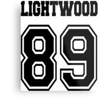 Lightwood 89 Black Metal Print