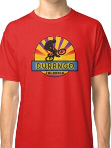 MOUNTAIN BIKE DURANGO COLORADO BIKING MOUNTAINS Classic T-Shirt