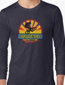 MOUNTAIN BIKE DURANGO COLORADO BIKING MOUNTAINS Long Sleeve T-Shirt