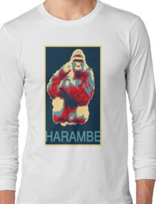 Harambe RIP Silverback Gorilla Gentle Giant Obama Style Poster Tribute Zoo Long Sleeve T-Shirt