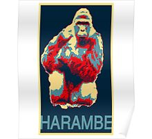 Harambe RIP Silverback Gorilla Gentle Giant Obama Style Poster Tribute Cincinnati Zoo Poster