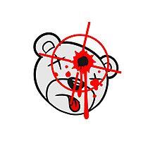 head, face, shoot headshot killer killer sniper teddy strike targeted visor gamer shooter comic cartoon Photographic Print