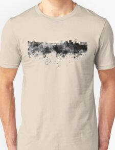 Luxembourg skyline in black watercolor Unisex T-Shirt